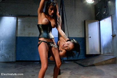 Photo number 12 from Electro-Fucked in Side Suspension shot for Electro Sluts on Kink.com. Featuring Skin Diamond and Gia DiMarco in hardcore BDSM & Fetish porn.