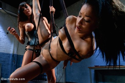 Photo number 13 from Electro-Fucked in Side Suspension shot for Electro Sluts on Kink.com. Featuring Skin Diamond and Gia DiMarco in hardcore BDSM & Fetish porn.