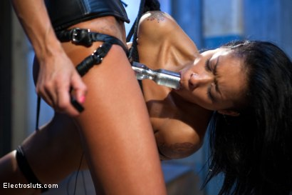 Photo number 4 from Electro-Fucked in Side Suspension shot for Electro Sluts on Kink.com. Featuring Skin Diamond and Gia DiMarco in hardcore BDSM & Fetish porn.