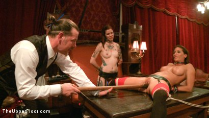 Photo number 11 from Refining the slaves shot for The Upper Floor on Kink.com. Featuring Krysta Kaos, Odile, Ariel X and Maestro Stefanos in hardcore BDSM & Fetish porn.