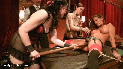 Photo number 14 from Refining the slaves shot for The Upper Floor on Kink.com. Featuring Krysta Kaos, Odile, Ariel X and Maestro Stefanos in hardcore BDSM & Fetish porn.