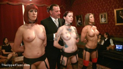 Photo number 5 from Refining the slaves shot for The Upper Floor on Kink.com. Featuring Krysta Kaos, Odile, Ariel X and Maestro Stefanos in hardcore BDSM & Fetish porn.