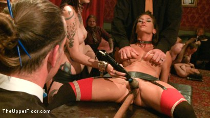 Photo number 8 from Refining the slaves shot for The Upper Floor on Kink.com. Featuring Krysta Kaos, Odile, Ariel X and Maestro Stefanos in hardcore BDSM & Fetish porn.