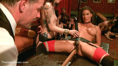Photo number 10 from Refining the slaves shot for The Upper Floor on Kink.com. Featuring Krysta Kaos, Odile, Ariel X and Maestro Stefanos in hardcore BDSM & Fetish porn.