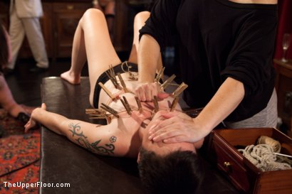 Photo number 8 from Stefanos' Brunch shot for The Upper Floor on Kink.com. Featuring Odile, Krysta Kaos and Maestro Stefanos in hardcore BDSM & Fetish porn.
