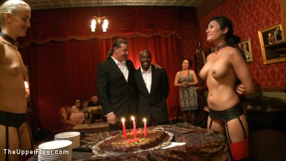 Photo number 1 from Jack Hammer's Birthday Party shot for The Upper Floor on Kink.com. Featuring Lyla Storm, Dylan Ryan, Beretta James, Mark Davis and Jack Hammer in hardcore BDSM & Fetish porn.