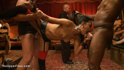 Photo number 15 from Jack Hammer's Birthday Party shot for The Upper Floor on Kink.com. Featuring Lyla Storm, Dylan Ryan, Beretta James, Mark Davis and Jack Hammer in hardcore BDSM & Fetish porn.