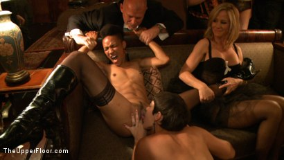 Photo number 5 from Jack Hammer's Birthday Party shot for The Upper Floor on Kink.com. Featuring Lyla Storm, Dylan Ryan, Beretta James, Mark Davis and Jack Hammer in hardcore BDSM & Fetish porn.