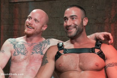 Photo number 15 from Passion in Pain shot for Bound Gods on Kink.com. Featuring Brock Rustin and Spencer Reed in hardcore BDSM & Fetish porn.
