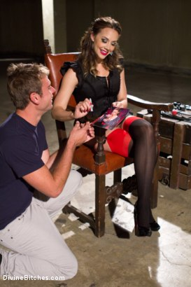Photo number 1 from Reality Fanboy Cuckold shot for Divine Bitches on Kink.com. Featuring Chanel Preston, John Jammen and Andrew Blue in hardcore BDSM & Fetish porn.