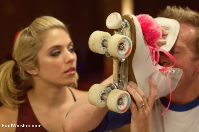 Photo number 7 from Dirty Socks and Roller Skates featuring Chastity Lynn and Lia Lor shot for Foot Worship on Kink.com. Featuring Lia Lor, Mark Wood and Chastity Lynn in hardcore BDSM & Fetish porn.