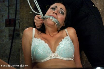 Photo number 2 from Her Body Tied Up, Her Legs Bound and Caned, Her Pussy full on Machines shot for Fucking Machines on Kink.com. Featuring Ashli Ames in hardcore BDSM & Fetish porn.