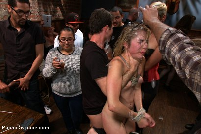 Photo number 11 from Lorelei Lee mops the floor with her plaything while the crowd applauds shot for Public Disgrace on Kink.com. Featuring Lia Lor, James Deen and Lorelei Lee in hardcore BDSM & Fetish porn.