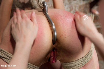 Photo number 11 from Big Titted Slut Iona Grace Suspended and Tormented on HogTied.com shot for Hogtied on Kink.com. Featuring Iona Grace in hardcore BDSM & Fetish porn.