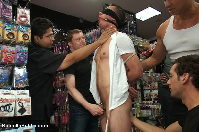 Photo number 1 from A stud wants to be a whore in a sex shop. shot for Bound in Public on Kink.com. Featuring Travis Irons in hardcore BDSM & Fetish porn.
