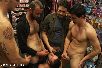 Photo number 13 from A stud wants to be a whore in a sex shop. shot for Bound in Public on Kink.com. Featuring Travis Irons in hardcore BDSM & Fetish porn.