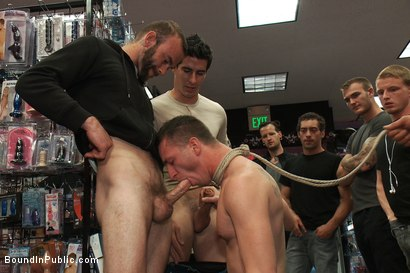 Photo number 3 from A stud wants to be a whore in a sex shop. shot for Bound in Public on Kink.com. Featuring Travis Irons in hardcore BDSM & Fetish porn.