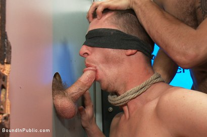 Photo number 7 from Horny pig publicly Humiliated, Double Penned & shoved in birthday Cake shot for Bound in Public on Kink.com. Featuring Travis Irons and Evan Mercy in hardcore BDSM & Fetish porn.