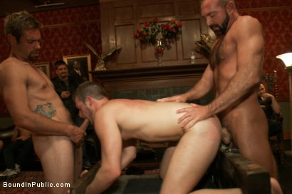 Photo number 11 from Brian Bonds Ass Punishment shot for Bound in Public on Kink.com. Featuring Brian Bonds and Josh West in hardcore BDSM & Fetish porn.