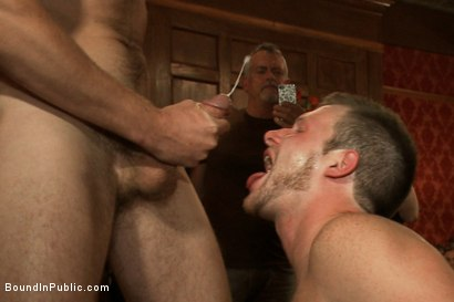 Photo number 13 from Brian Bonds Ass Punishment shot for Bound in Public on Kink.com. Featuring Brian Bonds and Josh West in hardcore BDSM & Fetish porn.