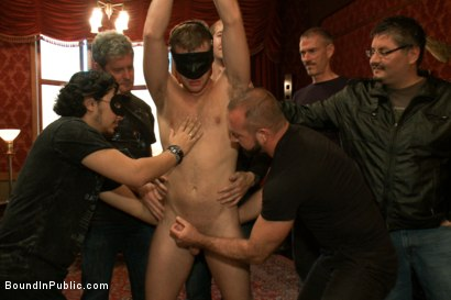 Photo number 7 from Brian Bonds Ass Punishment shot for Bound in Public on Kink.com. Featuring Brian Bonds and Josh West in hardcore BDSM & Fetish porn.