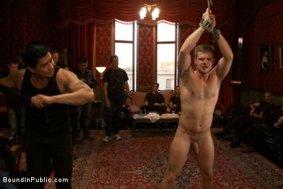 Photo number 8 from Brian Bonds Ass Punishment shot for Bound in Public on Kink.com. Featuring Brian Bonds and Josh West in hardcore BDSM & Fetish porn.
