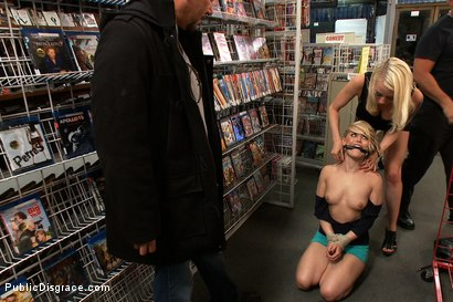 Photo number 3 from Hot Blonde Fucked and Humiliated in Public shot for Public Disgrace on Kink.com. Featuring Ash Hollywood, Lorelei Lee and Mark Davis in hardcore BDSM & Fetish porn.