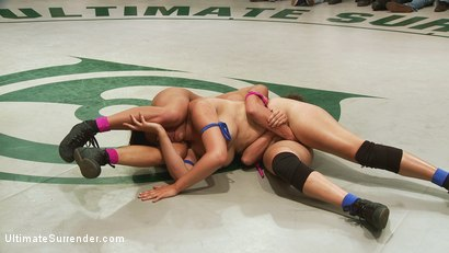 Photo number 8 from May Tag Team Match-up: Round 3 Clash of The Titans!!! shot for Ultimate Surrender on Kink.com. Featuring Bryn Blayne, Penny Barber, Bella Rossi and Ariel X in hardcore BDSM & Fetish porn.