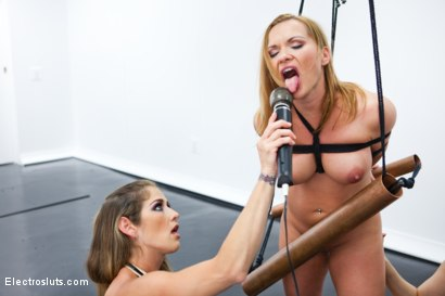 Photo number 13 from Katja Kassin is BACK After a 6 Year Break from Lesbian Electro Sex! shot for Electro Sluts on Kink.com. Featuring Katja Kassin, Ashley Fires and Felony in hardcore BDSM & Fetish porn.