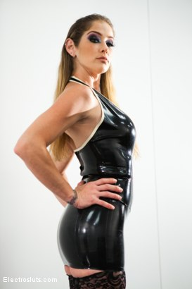 Photo number 2 from Katja Suffers Painfully to Pleasure her Doms! shot for Electro Sluts on Kink.com. Featuring Katja Kassin, Ashley Fires and Felony in hardcore BDSM & Fetish porn.