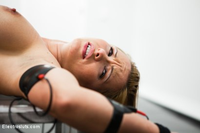 Photo number 5 from Katja Suffers Painfully to Pleasure her Doms! shot for Electro Sluts on Kink.com. Featuring Katja Kassin, Ashley Fires and Felony in hardcore BDSM & Fetish porn.