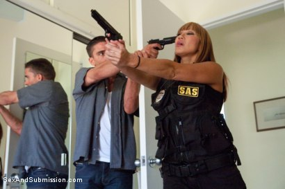 Photo number 4 from The Big Bust 2: Drug Lords Take Revenge shot for Sex And Submission on Kink.com. Featuring Ramon Nomar, Karlo Karrera, Toni Ribas, Sara Jay and Ava Devine in hardcore BDSM & Fetish porn.