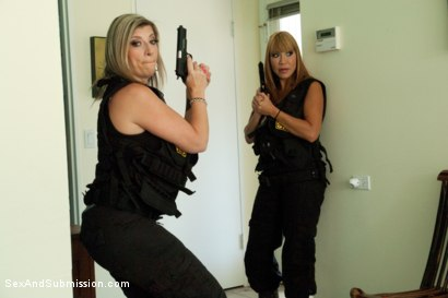 Photo number 2 from The Big Bust 2: Drug Lords Take Revenge shot for Sex And Submission on Kink.com. Featuring Ramon Nomar, Karlo Karrera, Toni Ribas, Sara Jay and Ava Devine in hardcore BDSM & Fetish porn.