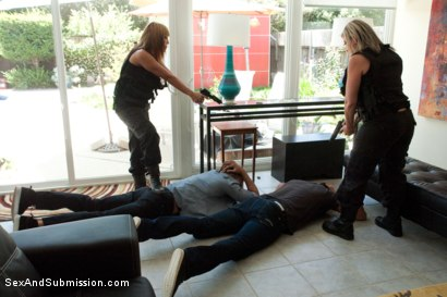 Photo number 3 from The Big Bust 2: Drug Lords Take Revenge shot for Sex And Submission on Kink.com. Featuring Ramon Nomar, Karlo Karrera, Toni Ribas, Sara Jay and Ava Devine in hardcore BDSM & Fetish porn.