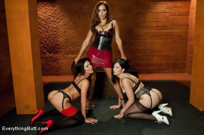 Photo number 1 from Punished, Fucked, Stretched and Cleaned Out shot for Everything Butt on Kink.com. Featuring Angell Summers, Kirsten Price and Francesca Le in hardcore BDSM & Fetish porn.