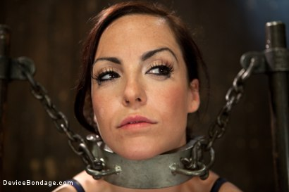 Photo number 5 from Bryn Blayne gets a smack-down into submission - Live Show Part 1 shot for Device Bondage on Kink.com. Featuring Bryn Blayne and Alani Pi in hardcore BDSM & Fetish porn.