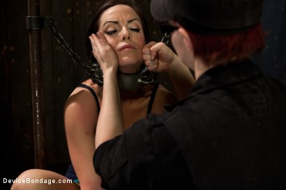Photo number 7 from Bryn Blayne gets a smack-down into submission - Live Show Part 1 shot for Device Bondage on Kink.com. Featuring Bryn Blayne and Alani Pi in hardcore BDSM & Fetish porn.