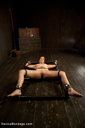 Photo number 2 from Bryn Blayne gets a smack-down into submission - Live Show Part 3 shot for Device Bondage on Kink.com. Featuring Bryn Blayne and Alani Pi in hardcore BDSM & Fetish porn.