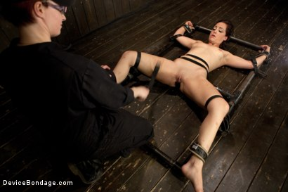 Photo number 5 from Bryn Blayne gets a smack-down into submission - Live Show Part 3 shot for Device Bondage on Kink.com. Featuring Bryn Blayne and Alani Pi in hardcore BDSM & Fetish porn.