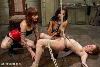 Photo number 15 from Calico returns for first lesbian double penetration! shot for Whipped Ass on Kink.com. Featuring Maitresse Madeline Marlowe, Skin Diamond and Calico in hardcore BDSM & Fetish porn.