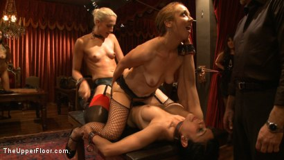 Photo number 10 from Dinner Party: Air Tight Guest shot for The Upper Floor on Kink.com. Featuring Dylan Ryan, Beretta James, Maestro Stefanos and The Pope in hardcore BDSM & Fetish porn.