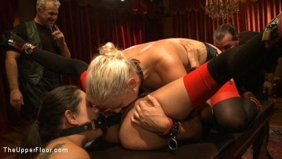 Photo number 12 from Dinner Party: Air Tight Guest shot for The Upper Floor on Kink.com. Featuring Dylan Ryan, Beretta James, Maestro Stefanos and The Pope in hardcore BDSM & Fetish porn.