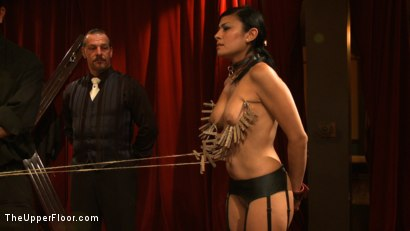 Photo number 3 from Dinner Party: Air Tight Guest shot for The Upper Floor on Kink.com. Featuring Dylan Ryan, Beretta James, Maestro Stefanos and The Pope in hardcore BDSM & Fetish porn.