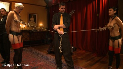 Photo number 4 from Dinner Party: Air Tight Guest shot for The Upper Floor on Kink.com. Featuring Dylan Ryan, Beretta James, Maestro Stefanos and The Pope in hardcore BDSM & Fetish porn.