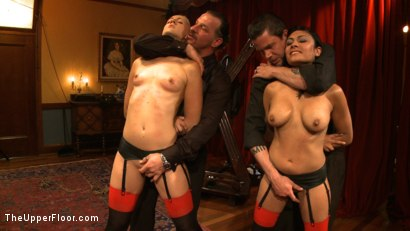 Photo number 6 from Dinner Party: Air Tight Guest shot for The Upper Floor on Kink.com. Featuring Dylan Ryan, Beretta James, Maestro Stefanos and The Pope in hardcore BDSM & Fetish porn.