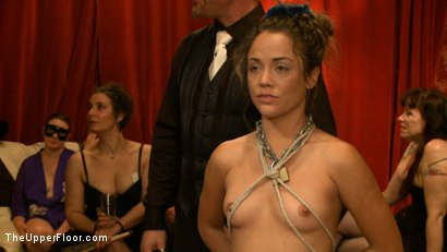 Photo number 1 from Slave Initiation: Rosie shot for The Upper Floor on Kink.com. Featuring Dylan Ryan, Kristina Rose, Beretta James, Soma Snakeoil (Goddess Soma), Jack Hammer, The Pope, Maestro Stefanos and Krysta Kaos in hardcore BDSM & Fetish porn.