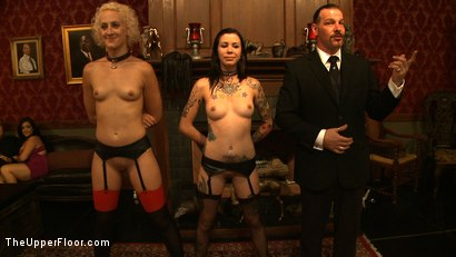 Photo number 7 from House Party: Debauchery  shot for The Upper Floor on Kink.com. Featuring Dylan Ryan, Lyla Storm, Derrick Pierce, Krysta Kaos and Maestro Stefanos in hardcore BDSM & Fetish porn.
