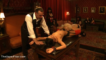 Photo number 13 from House Party: Debauchery  shot for The Upper Floor on Kink.com. Featuring Dylan Ryan, Lyla Storm, Derrick Pierce, Krysta Kaos and Maestro Stefanos in hardcore BDSM & Fetish porn.