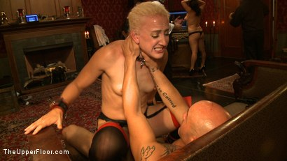 Photo number 2 from House Party: Debauchery  shot for The Upper Floor on Kink.com. Featuring Dylan Ryan, Lyla Storm, Derrick Pierce, Krysta Kaos and Maestro Stefanos in hardcore BDSM & Fetish porn.