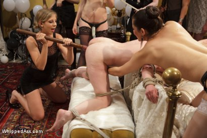 Photo number 13 from Justine Joli's Whipped Ass/Electrosluts LIVE and PUBLIC all girl birthday BDSM orgy!! shot for Whipped Ass on Kink.com. Featuring Justine Joli, Beretta James and Audrey Rose in hardcore BDSM & Fetish porn.